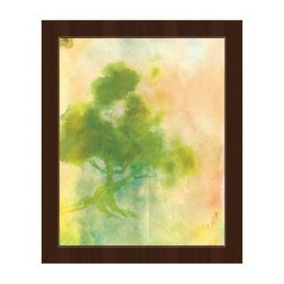 'Chartreuse Sumi Tree' Canvas Framed Wall Art Print