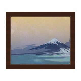 Indigo Tinted Fuji Framed Canvas Wall Art Print
