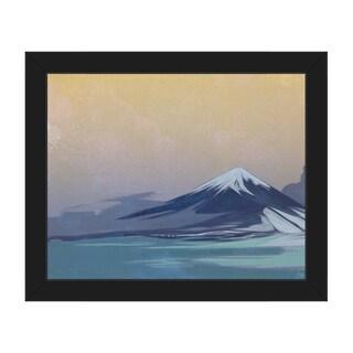 'Indigo Tinted Fuji' Framed Canvas Wall Art