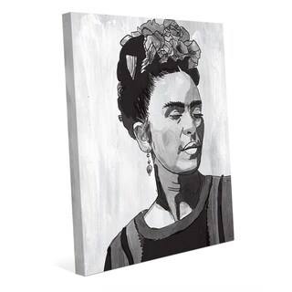 'Frida Kahlo' Black/White Canvas Wall Art