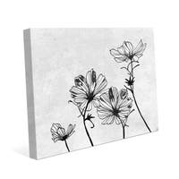 'White Flowers' Canvas Wall Art Print