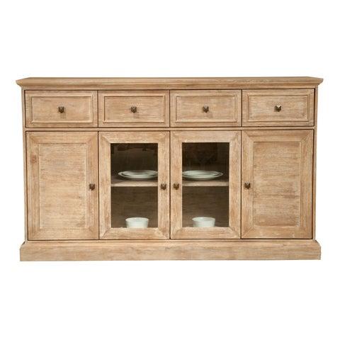 Harlan Stone Wash Acacia 4-door Dining Sideboard