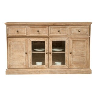Harlan Stone Wash Acacia 4-door Dining Sideboard
