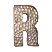 Jeco Honeycomb Gold-tone Metal Patterned Letter