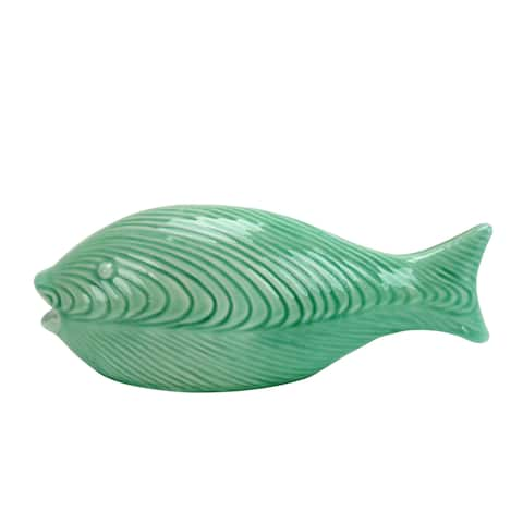 Jeco Nisibis Jade Decorative Ceramic 11-inch Fish