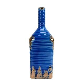 Jeco Singara Blue Ceramic 12.4-inch Vase