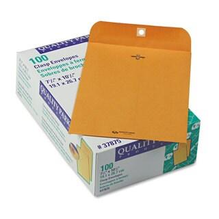 Quality Park Clasp Envelope 7 1/2 x 10 1/2 28-pound Brown Kraft 100/Box