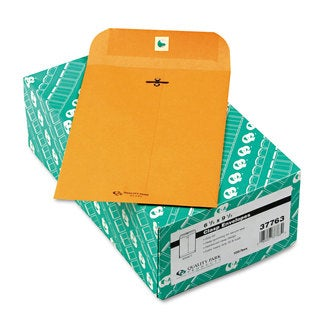Quality Park Clasp Envelope 6 1/2 x 9 1/2 32-pound Brown Kraft 100/Box
