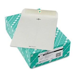 Quality Park Clasp Envelope 9 x 12 28lb Executive Grey 100/Box