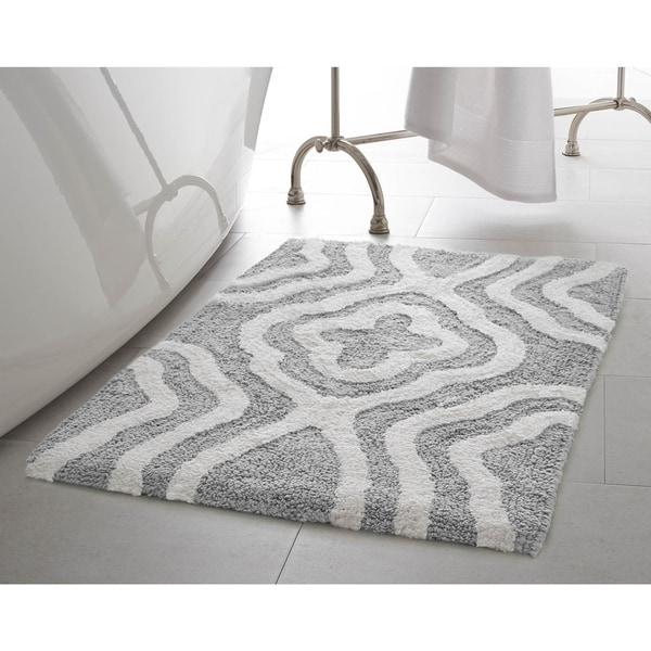 Loop Light Grey Bath Rug Reviews: Shop Jean Pierre Reversible Cotton Giri 21 X 34 In. Bath