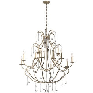 Kichler Lighting Shelsley Collection 12-light Sterling Gold Chandelier