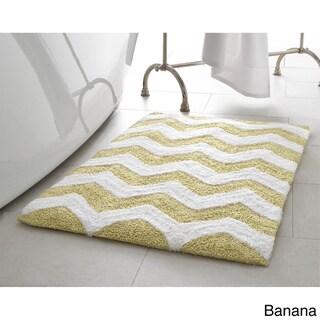 Jean Pierre Reversible Cotton Zigzag 2-Piece Bath Mat Set