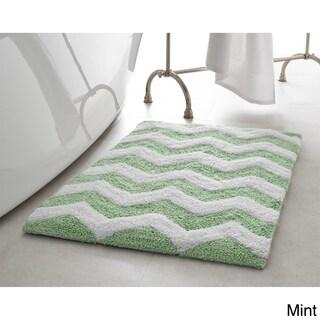 Jean Pierre Reversible Cotton Zigzag 21 x 34 in. Bath Mat