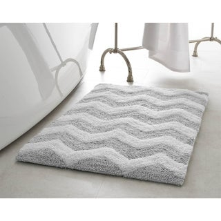 Jean Pierre Reversible Cotton Zigzag 21 x 34 in. Bath Mat (2 options available)