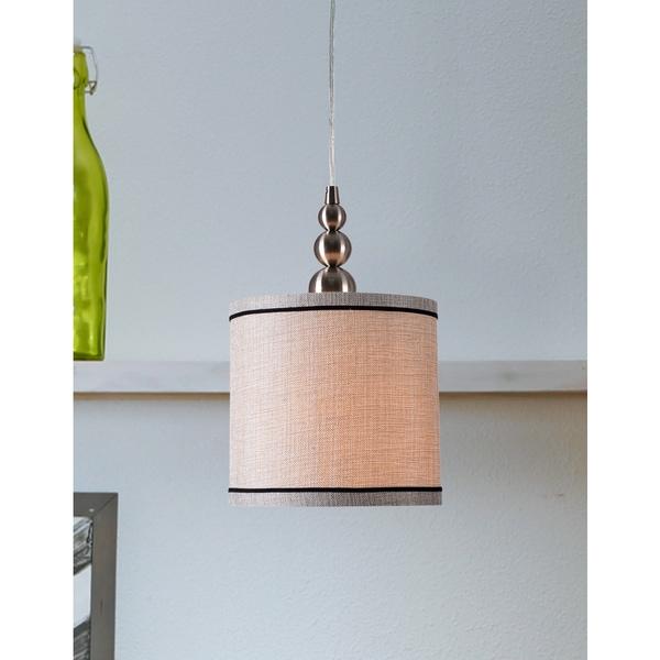 Dot Brushed Steel 1-light Mini Pendant