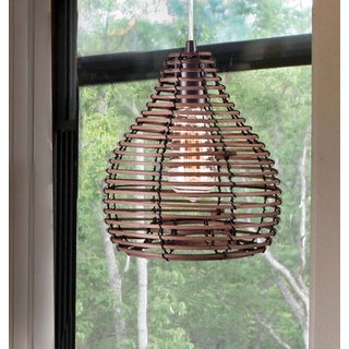 Design Craft Hollis 1-light Natural Reed Mini Pendant