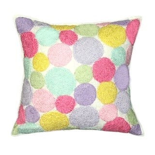 Cottage Home Iman Dot Cotton 20 Inch Throw Pillow
