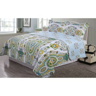 Journee Home 'Cirriah' 3 pc Reversible Printed Quilt Set