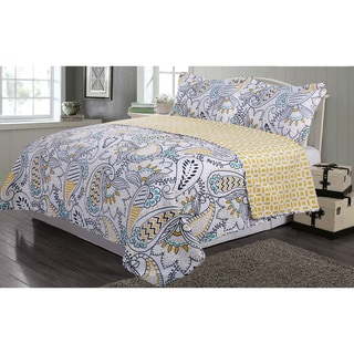 Journee Home 'Clarrisa' 3 pc Reversible Printed Quilt Set