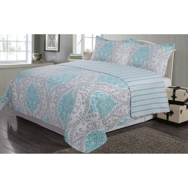 Journee Home 'Taija' 3 pc Reversible Printed Quilt Set