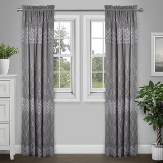 Journee Home 'Gracie' 84 in Lined Embroidered Valance Curtain Panel