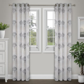 Journee Home Fiona 90-inch Grommet Top Embroidered Chiffon Curtain Panel (2 options available)