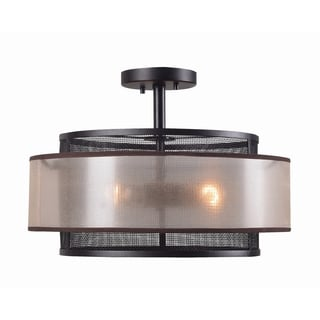 Design Craft Adriana Blackened Oil Rubbed Bronze 3-light Semi Flush Mount