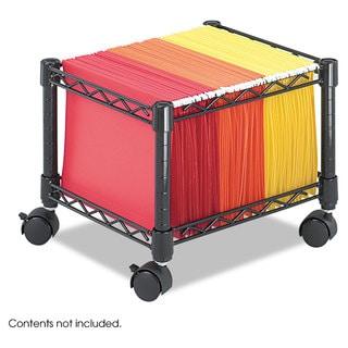 Safco Mini Mobile Wire File Cart Steel Wire 15-1/2-inch wide x 14-inch deep x 12-1/2h Black