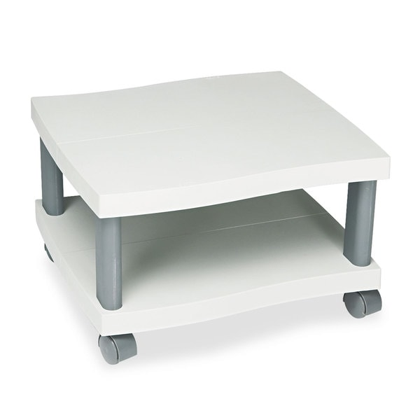 Safco Wave Design Printer Stand Two-Shelf 20-inch wide x 17-1/2-inch deep x 11-1/2h Charcoal Grey