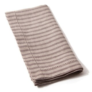Bernadette Brown Walnut Striped Linen Napkin (Set of 4)