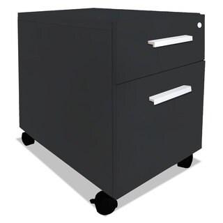 Mayline e5 Series Mobile Box/File Pedestal 15 1/2-inch wide x 24-inch deep x 23h Raven