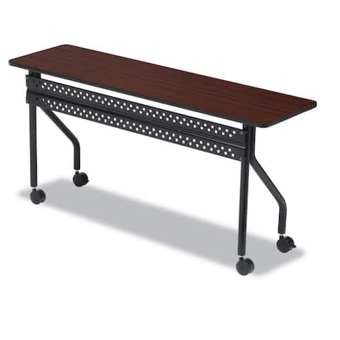 Iceberg OfficeWorks Mobile Training Table Rectangular 72-inch wide x 18-inch deep x 29-inch high Mahogany/Black