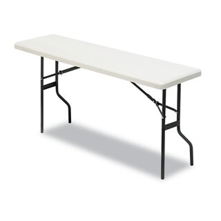 Iceberg IndestrucTables Too 1200 Series Resin Folding Table 60-inch wide x 18-inch deep x 29h Platinum