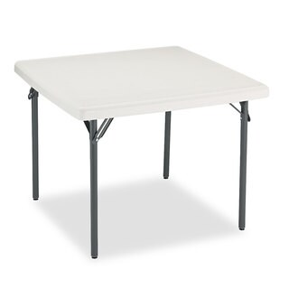Iceberg IndestrucTables Too 1200 Series Resin Folding Table 37-inch wide x 37-inch deep x 29-inch high Platinum