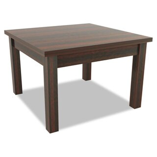 Alera Valencia Series Occasional Table Square 23-5/8 x 23-5/8 x 20-3/8 Mahogany