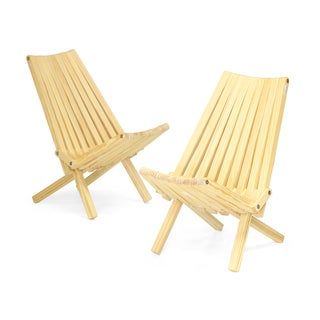 Unfinished Wood Folding Chair X36 (Set of 2)