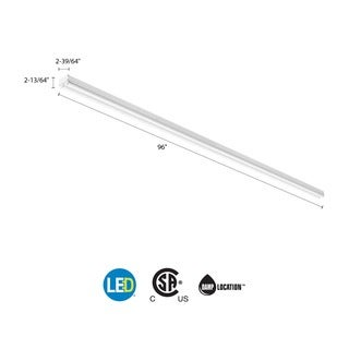 Lithonia Lighting White Steel 120V LED Striplight