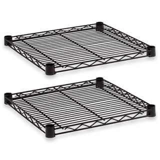 Alera Industrial Wire Shelving Extra Wire Shelves 18-inch wide x 18-inch deep Black 2 Shelves/Carton