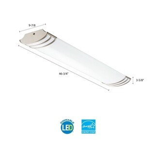 Lithonia Lighting White Steel 8-foot 2-light LED Strip Light
