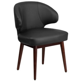 Rosemont Black Leather Curved-back Side Chairs
