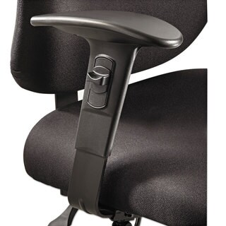 Safco Height/Width-Adjustable T-Pad Arms for Alday 24/7 Task Chair Black 1 Pair