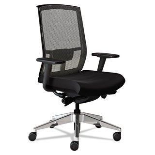 Mayline Gist Task Plus+ Chair Black/Silver