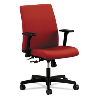 HON Ignition Series Low-Back Task Chair Poppy Fabric Upholstery