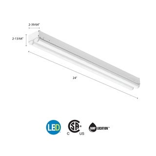 Lithonia Lighting White Steel LED Striplight