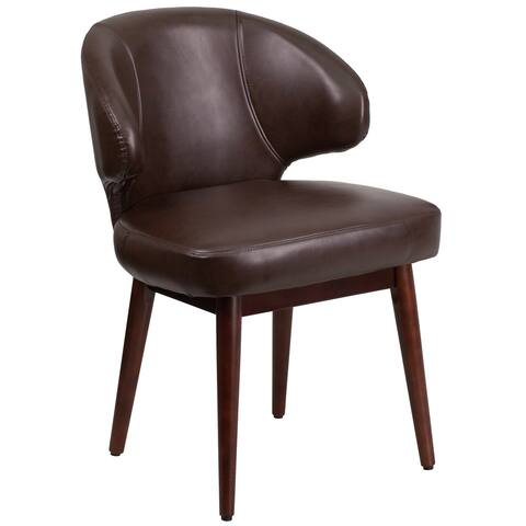 Rosemont Brown Leather Curved-back Side Chairs