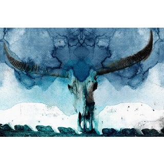 Marmont Hill - 'Horned Blue' Painting Print on Wrapped Canvas