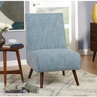 Simple Living Mid Century Malone Blue Accent Chair