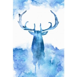 Marmont Hill - 'Blue Moose' Painting Print on Wrapped Canvas