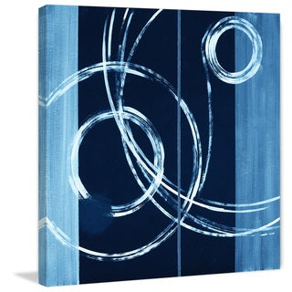 Marmont Hill - 'Wispy Rings' Painting Print on Wrapped Canvas