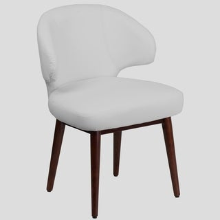 Rosemont White Leather Curved-back Side Chairs